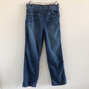 Vince High Rise Side Zip Wide Leg Jeans Size 26